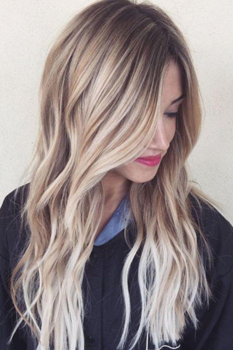 Омбре для блондинок: варианты окрашивания и фото-примеры 74