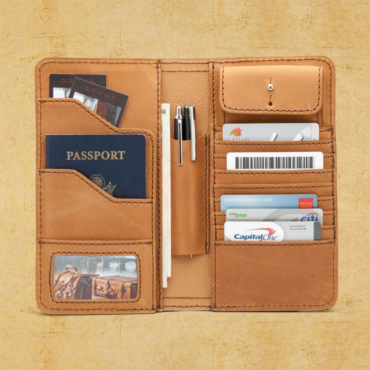 2540c7372f98 Кожаное мужское портмоне для денег, документов водителя и паспорта