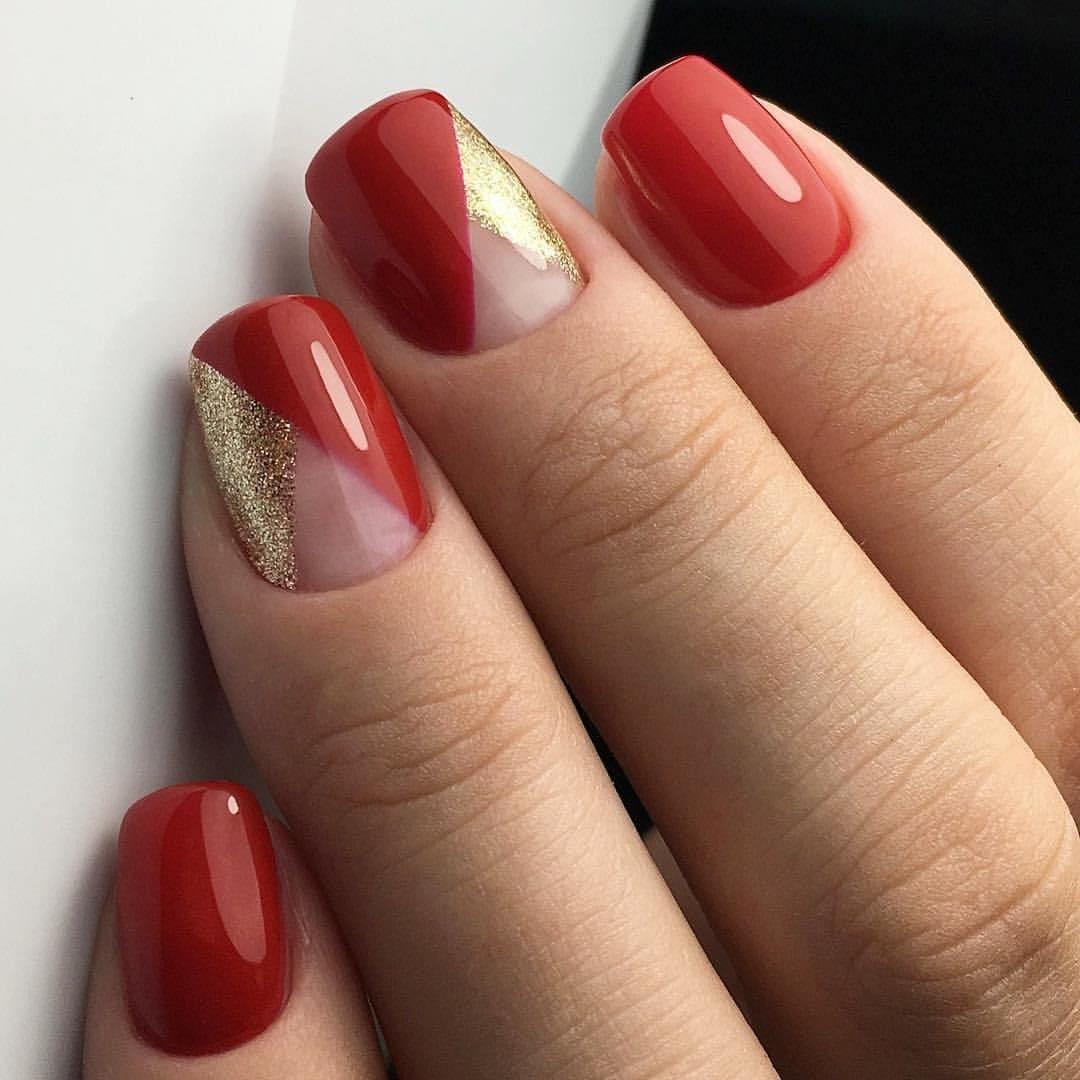 красный с золотым