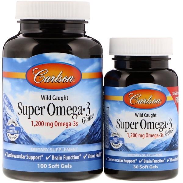 Carlson Labs, Супер жемчужины с Омега-3