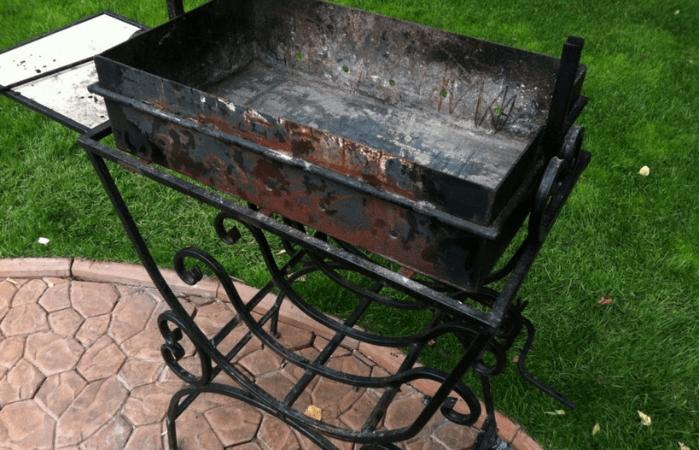какой краской покрасить мангал чтобы не обгорал