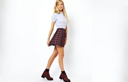 стильный лук для подростка в школу